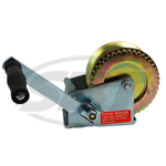 1400 lb cap. Single speed gear winch. Rope and cable only!