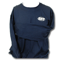 SBT Футболка с динным рукавом логотип SBT цвет синий