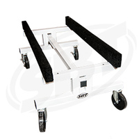 """PWC Shop Cart - Trailer Height (20"""") - 20"""" or 14"""" Adjustable Bunk Centers with 6"""" Wheels"""